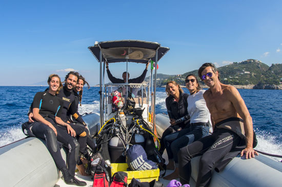 Boat tour from Sorrento with 2 diving - 5 hours