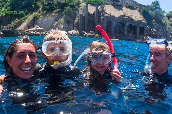 Snorkeling da Sorrento - giro in barca con biologo marino