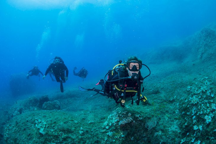 Diving in Sorrento with PADI Instructor
