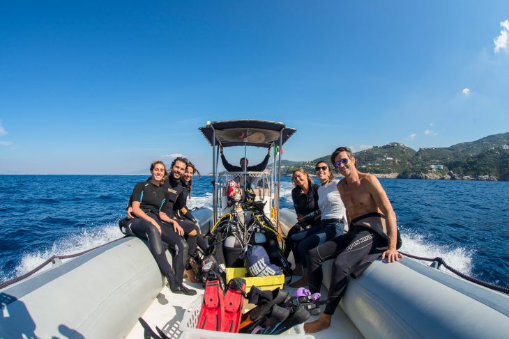 Discovery baptism of the sea dive without diving certification Sorrento