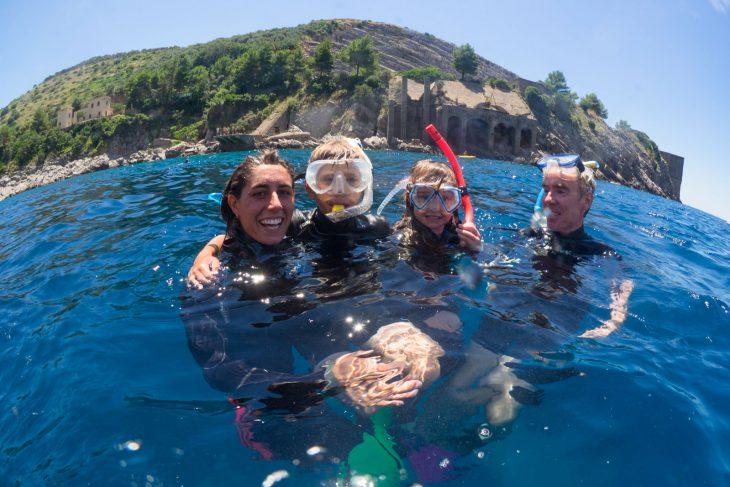 Snorkeling a Sorrento con Biologo marino
